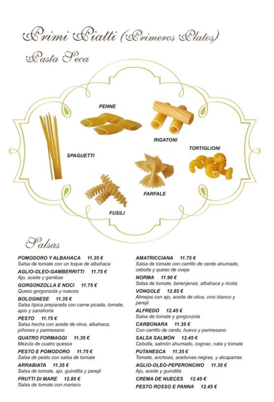 Pasta seca - Trattoria L'encontro